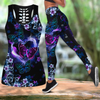 Beautiful Butterfly Combo Tank + Legging JJ100401 - Amaze Style™-Apparel