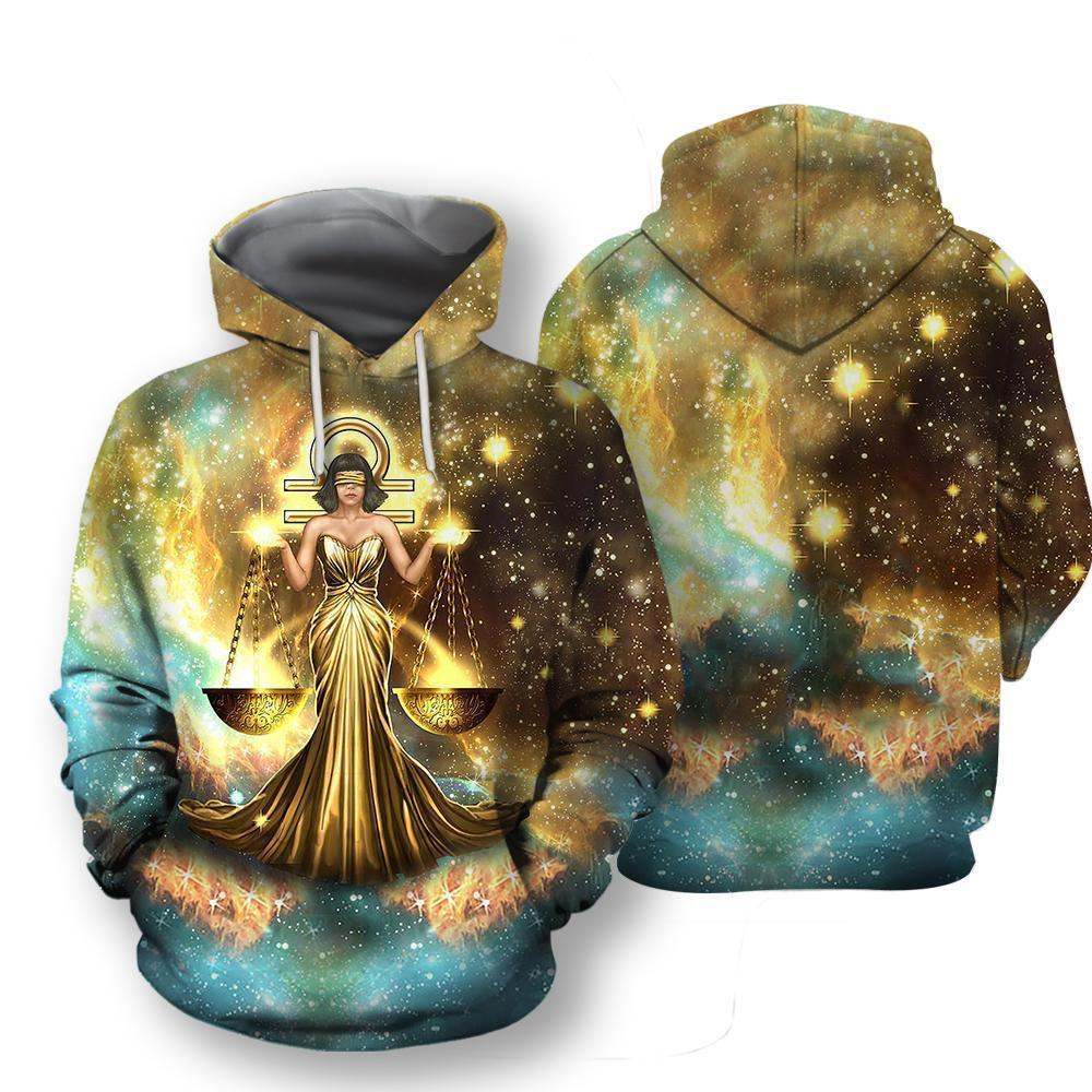 All Over Printed Libra Hoodie - Amaze Style™