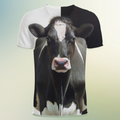 3D All Over Print Cow Clothes <Black> - Amaze Style™-Apparel