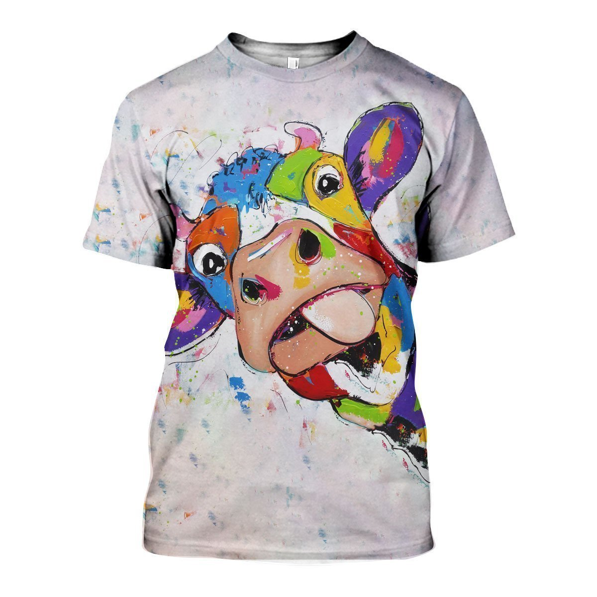 3D All Over Printed Oil Painting Cow Shirts and Shorts - Amaze Style™-Apparel