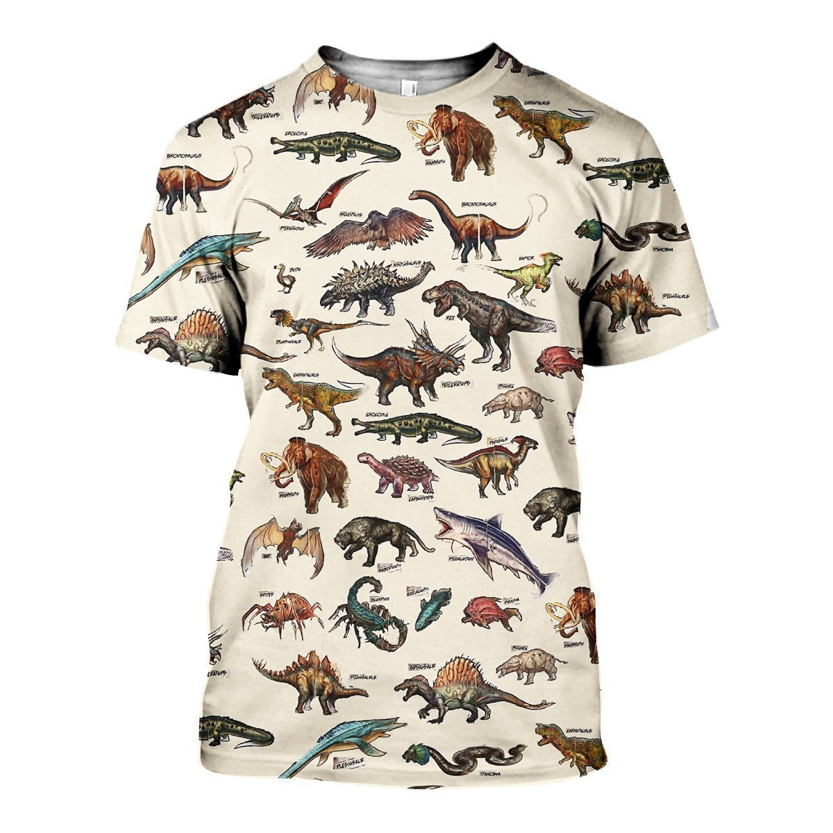 3D All Over Printed Dinosaur & Wildlife Of The Ark Shirts and Shorts - Amaze Style™