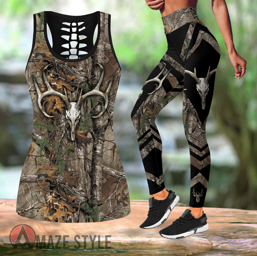 Deer hunting Combo Tank + Legging AMC150201 - Amaze Style™-Apparel