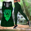 New zealand lion maori reggae tank top & leggings outfit for women - Amaze Style™-Apparel