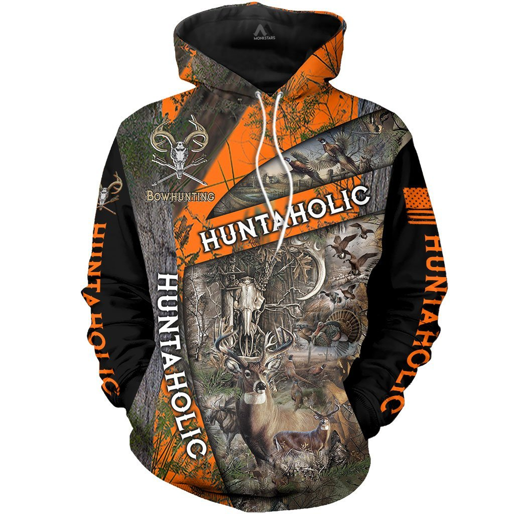 Deer Huntaholic 3D All Over Print Clothes TT150801 - Amaze Style™-Apparel