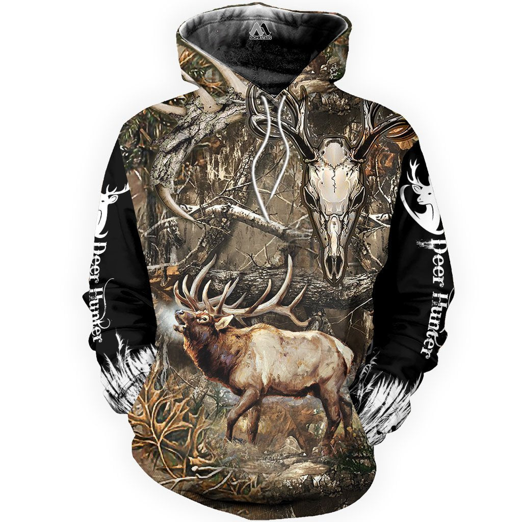 Skull Deer Hunting Camo 3D All Over Print Clothes TT140811 - Amaze Style™-Apparel