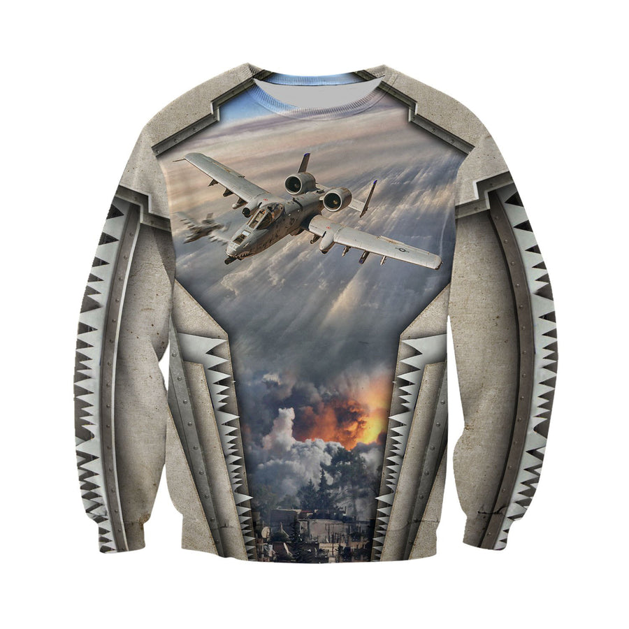 Air Force Aircraft A10 Thunderbolt II 3D All Over Printed Shirts for Men and Women TT180101 - Amaze Style™-Apparel
