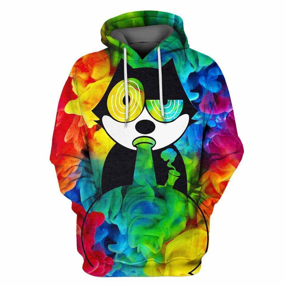 3D All Over Print Gato Felix 2 Hoodie - Amaze Style™-Apparel