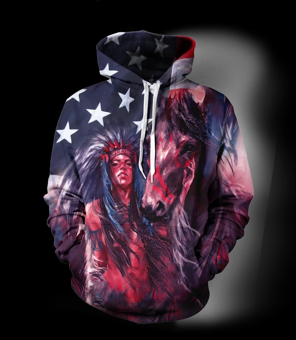 3D All Over Print Horse Hoodie NM120817 - Amaze Style™-Apparel