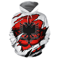 Albania In Me All Over Hoodie White NNK 1125 - Amaze Style™-Apparel