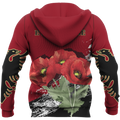 Albania - Poppy National Flower Special Hoodie NNK 1129 - Amaze Style™-Apparel
