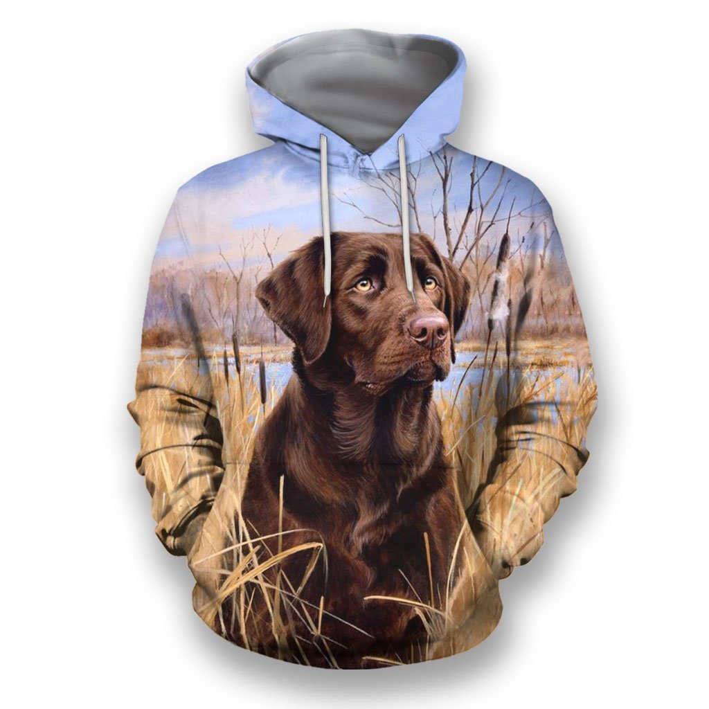 3D All Over Print Black Labrador Retriever In The Field - Amaze Style™-Apparel