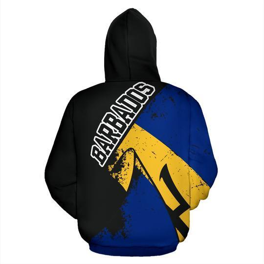 Barbados Special Grunge Flag Pullover - Amaze Style™