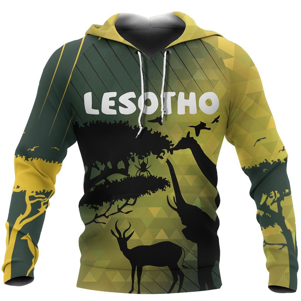3D All Over Printed Lesotho Animal Hoodie PL118 - Amaze Style™-Apparel