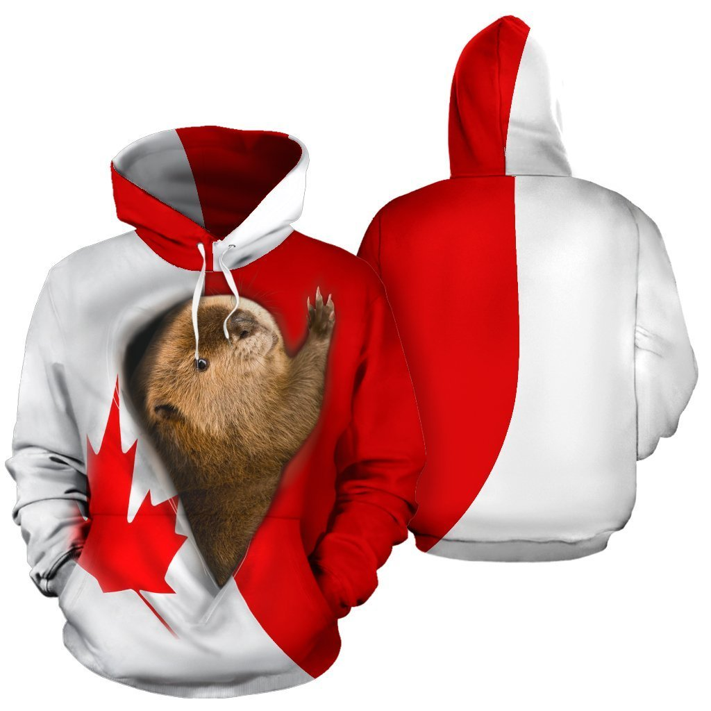 3D All Over Printed Canada National Animals Hoodie PL126 - Amaze Style™-Apparel