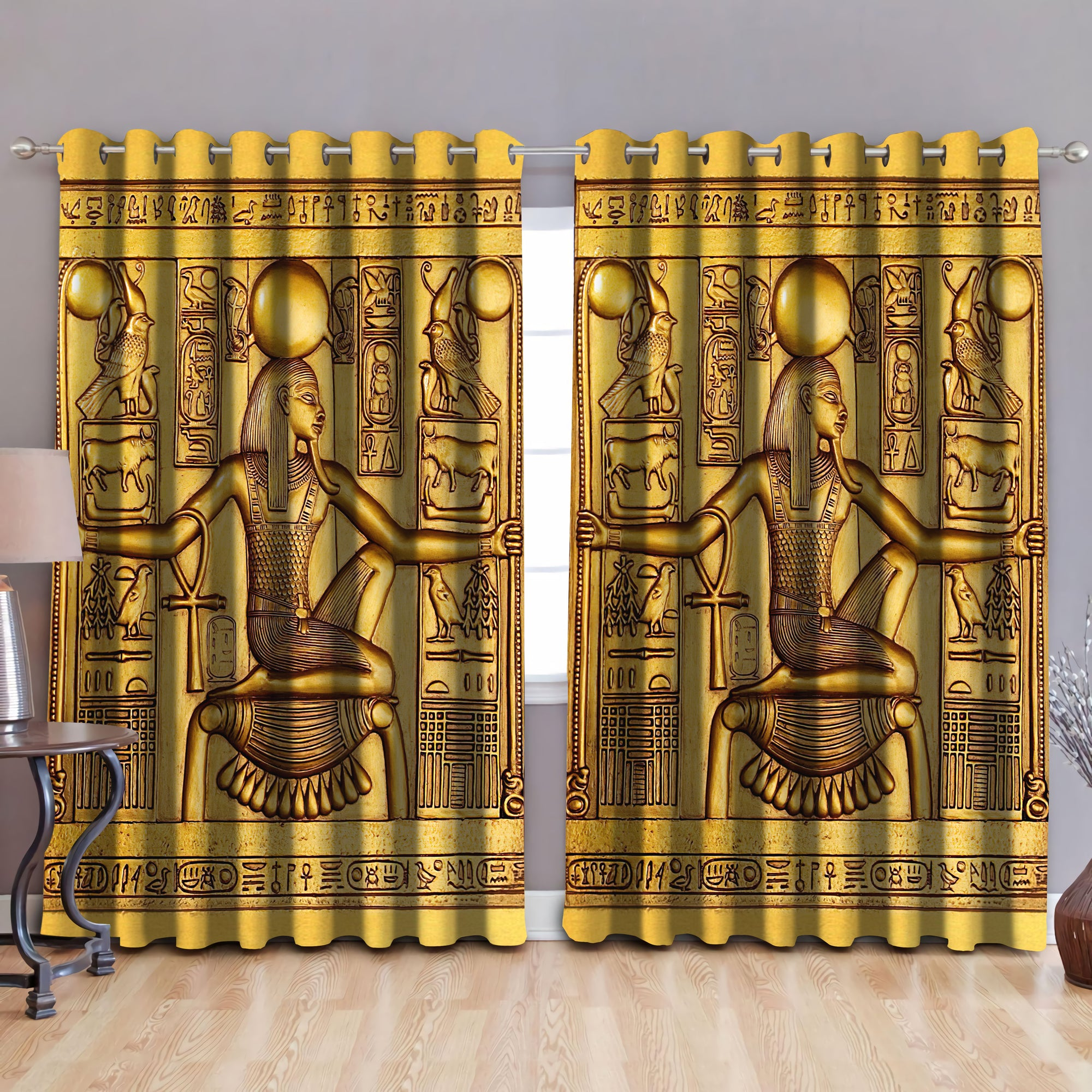 Ancient Egyptian Blackout Thermal Grommet Window Curtains Pi25062003 - Amaze Style™-Curtains