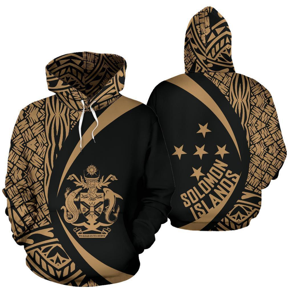 Solomon Islands Polynesian Hoodie - Circle Style 03 - J4 - Amaze Style™-Apparel