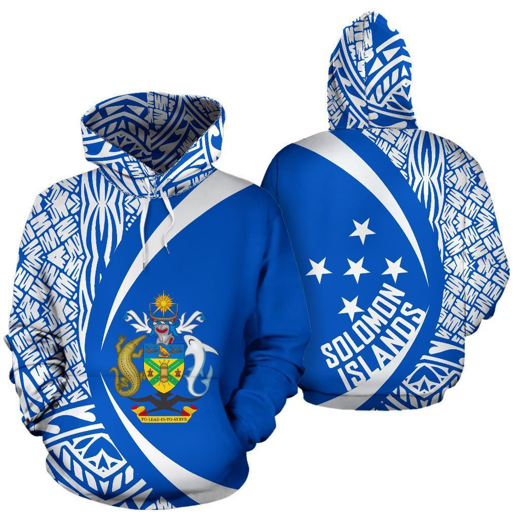 Solomon Islands Polynesian Hoodie - Circle Style 06 - J4 - Amaze Style™-Apparel