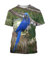 3D All Over Print Beautiful Blue Parrot Hoodie - Amaze Style™