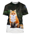 All Over Printed Fox Art  and Shorts - Amaze Style™-Apparel