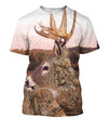 3D All Over Print Camo Deer Hunter Hoodie - Amaze Style™