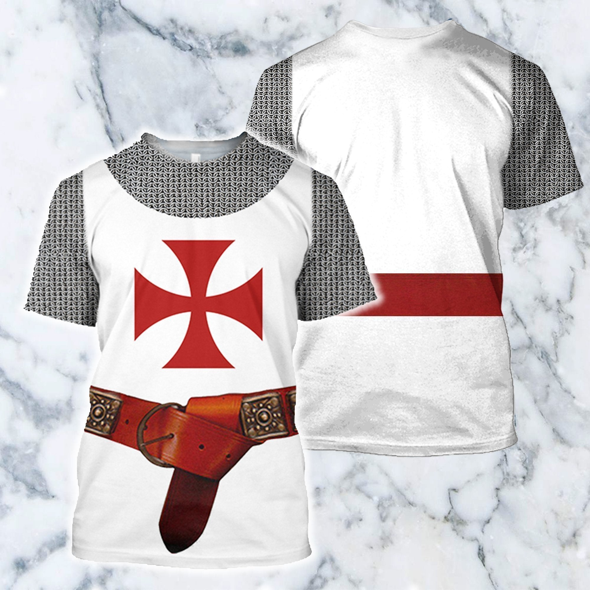 3D All Over Printed Knights Templar Tops - Amaze Style™