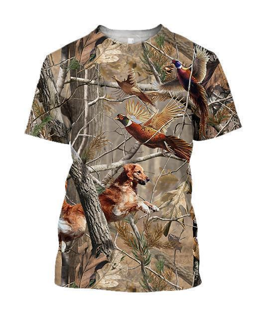 3D All Over Printed Dog Hunting Pheasant Shirts - Amaze Style™-Apparel