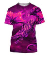 3D All Over Print Dragon Flying Purple Hoodie - Amaze Style™-Apparel