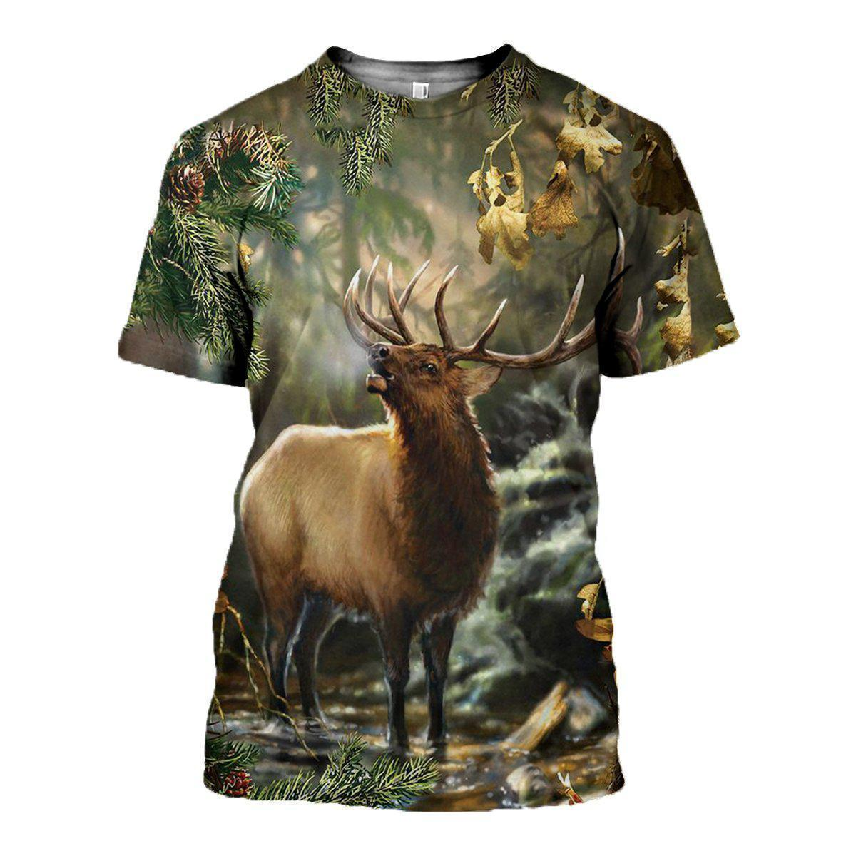 3D All Over Printed Deer Art Clothes - Amaze Style™-Apparel