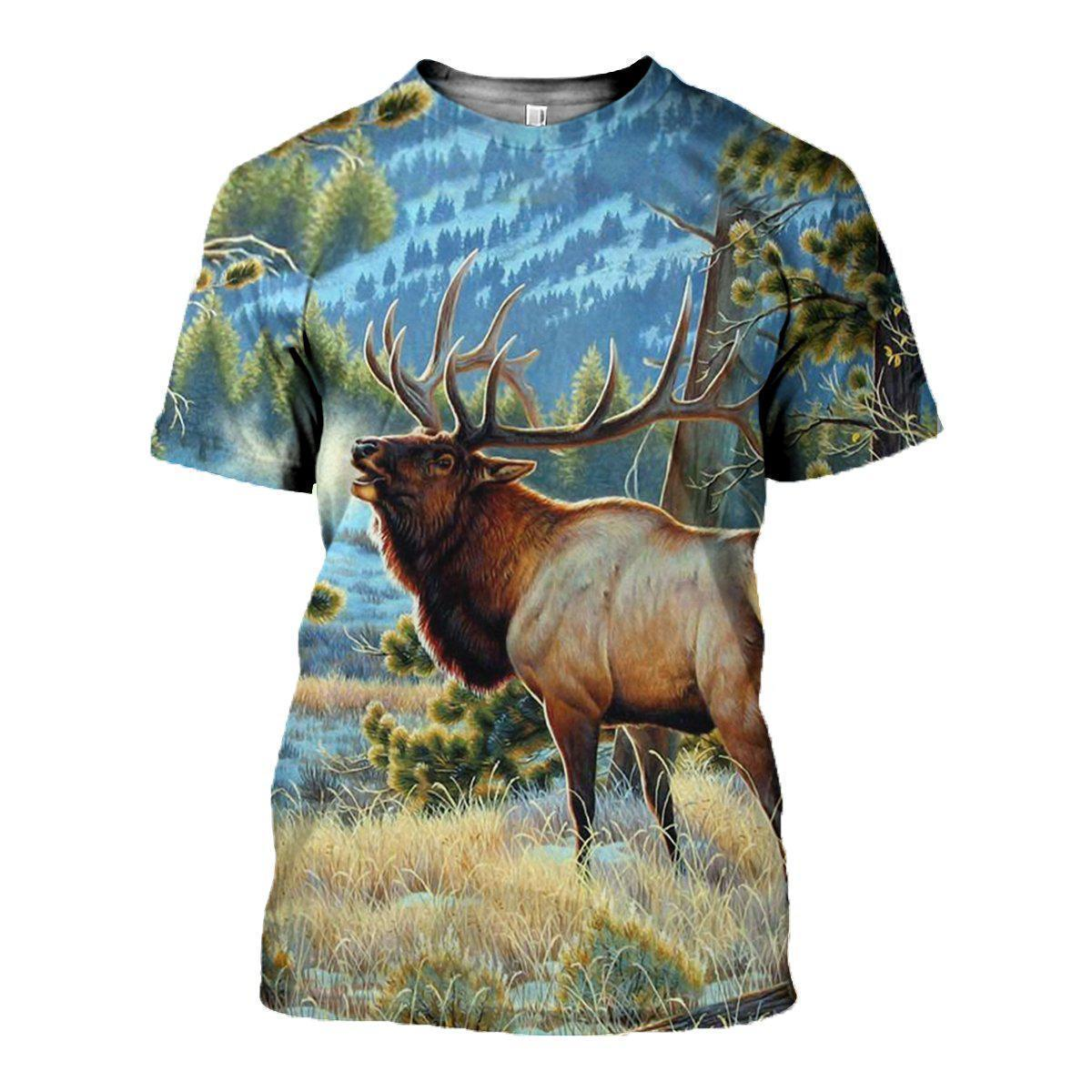 3D All Over Printed Nice Deer Art Clothes - Amaze Style™-Apparel