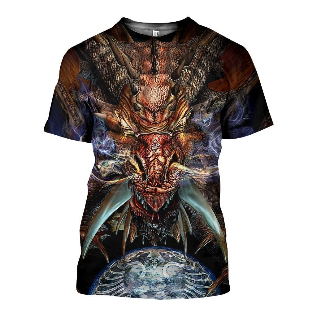 3D All Over Printed Dragon Art Shirts - Amaze Style™-Apparel