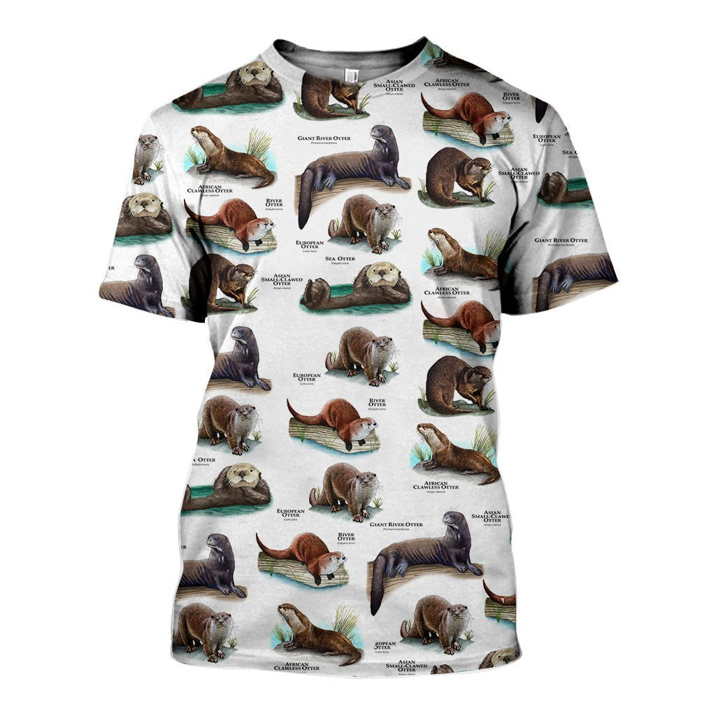 3D All Over Printed Otters Of The World Shirts and Shorts - Amaze Style™-Apparel