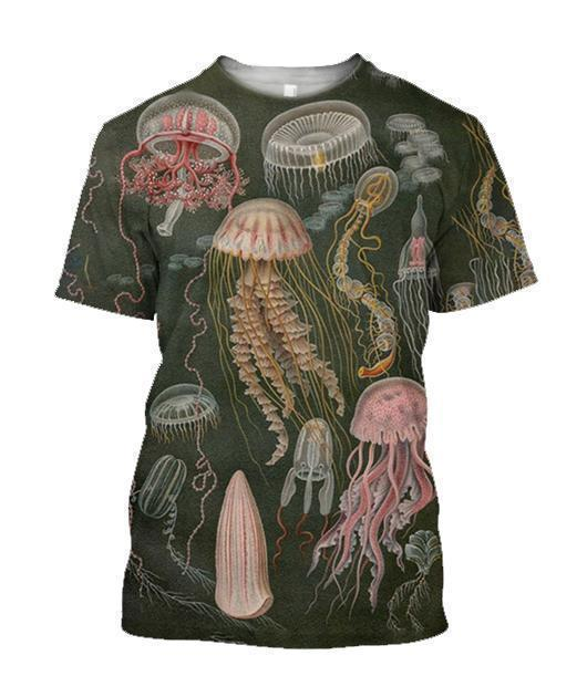 3D All Over Printed A lot of Jellyfish Shirts - Amaze Style™-Apparel