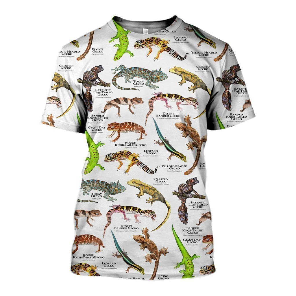 3D All Over Printed Geckos of the World Shirts And Shorts - Amaze Style™-Apparel