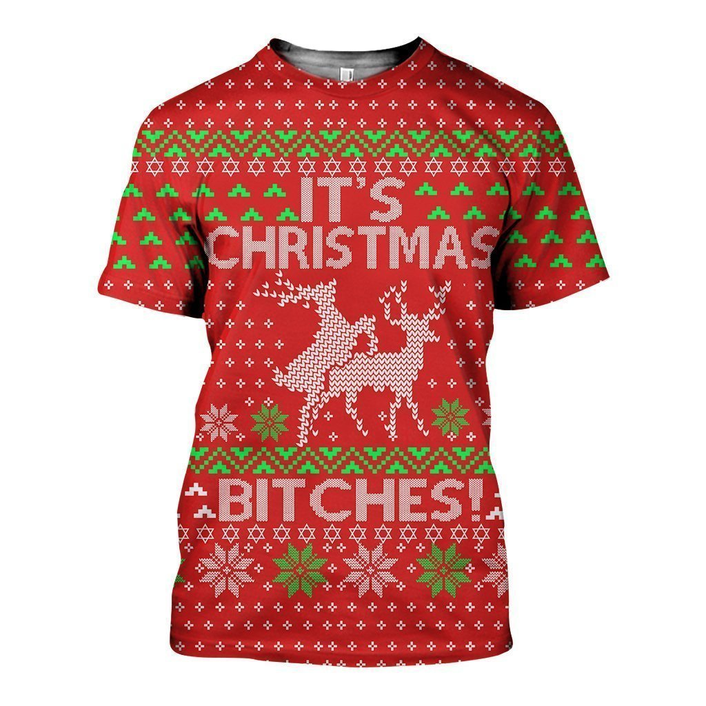 3D All Over Printed It's Christmas Ugly  Shirts and Shorts - Amaze Style™-Christmas
