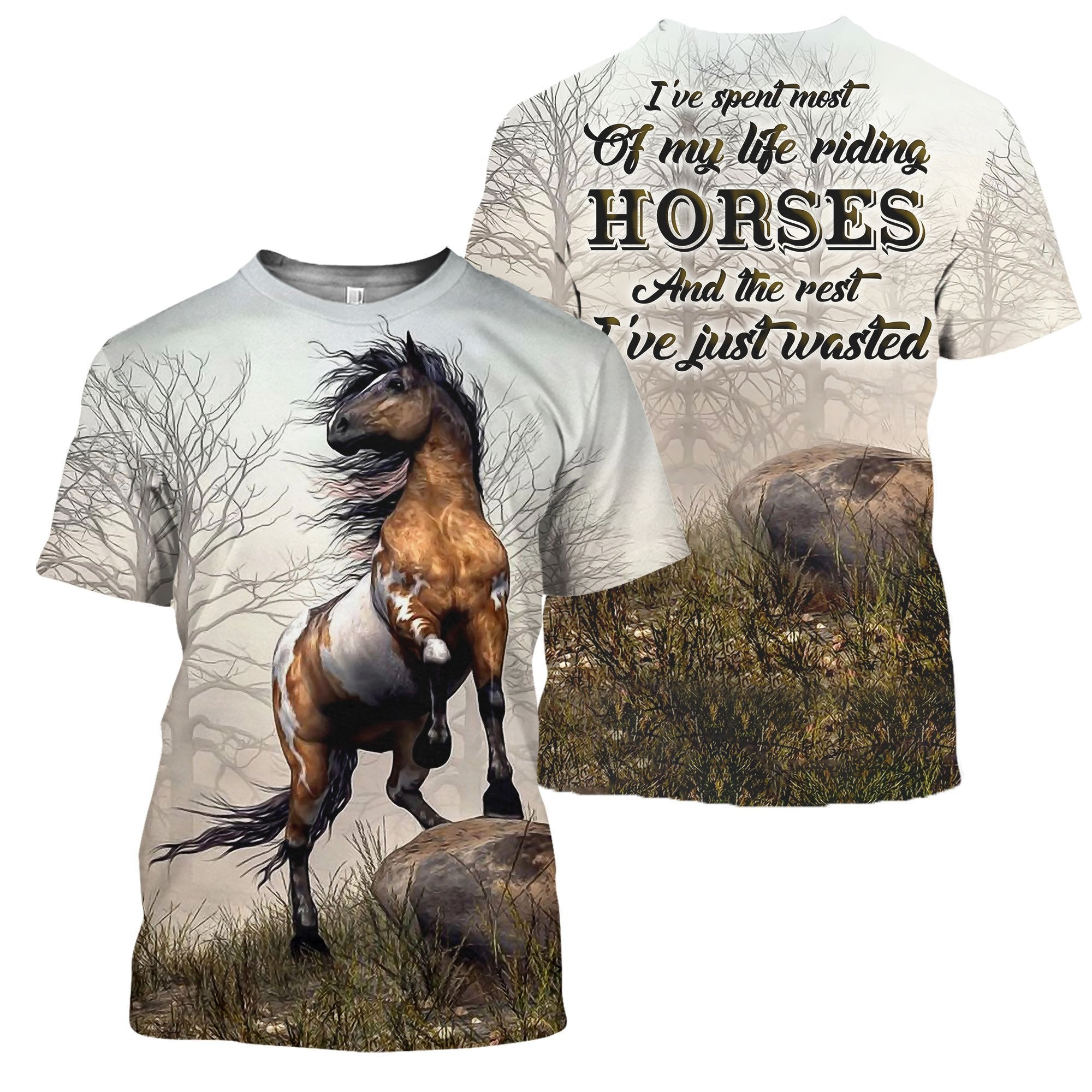 3D All Over Printed Riding Horse Shirts - Amaze Style™-Apparel