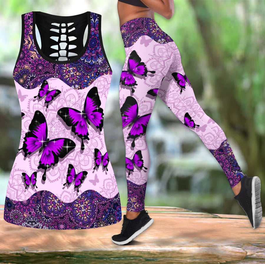 Beautiful Butterfly Combo Tank + Legging TR090401 - Amaze Style™-Apparel