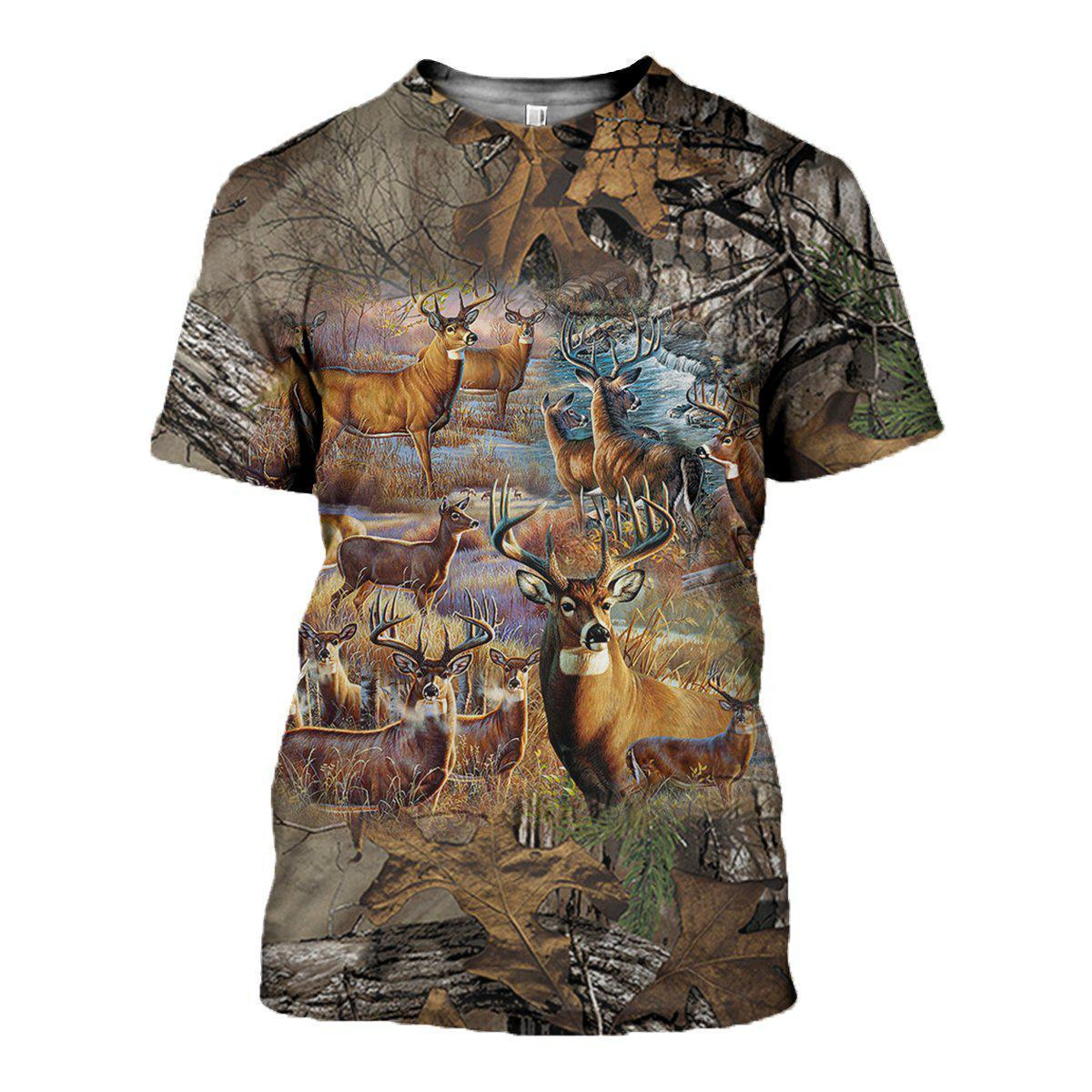 3D All Over Printed Deer camo Clothes - Amaze Style™-Apparel
