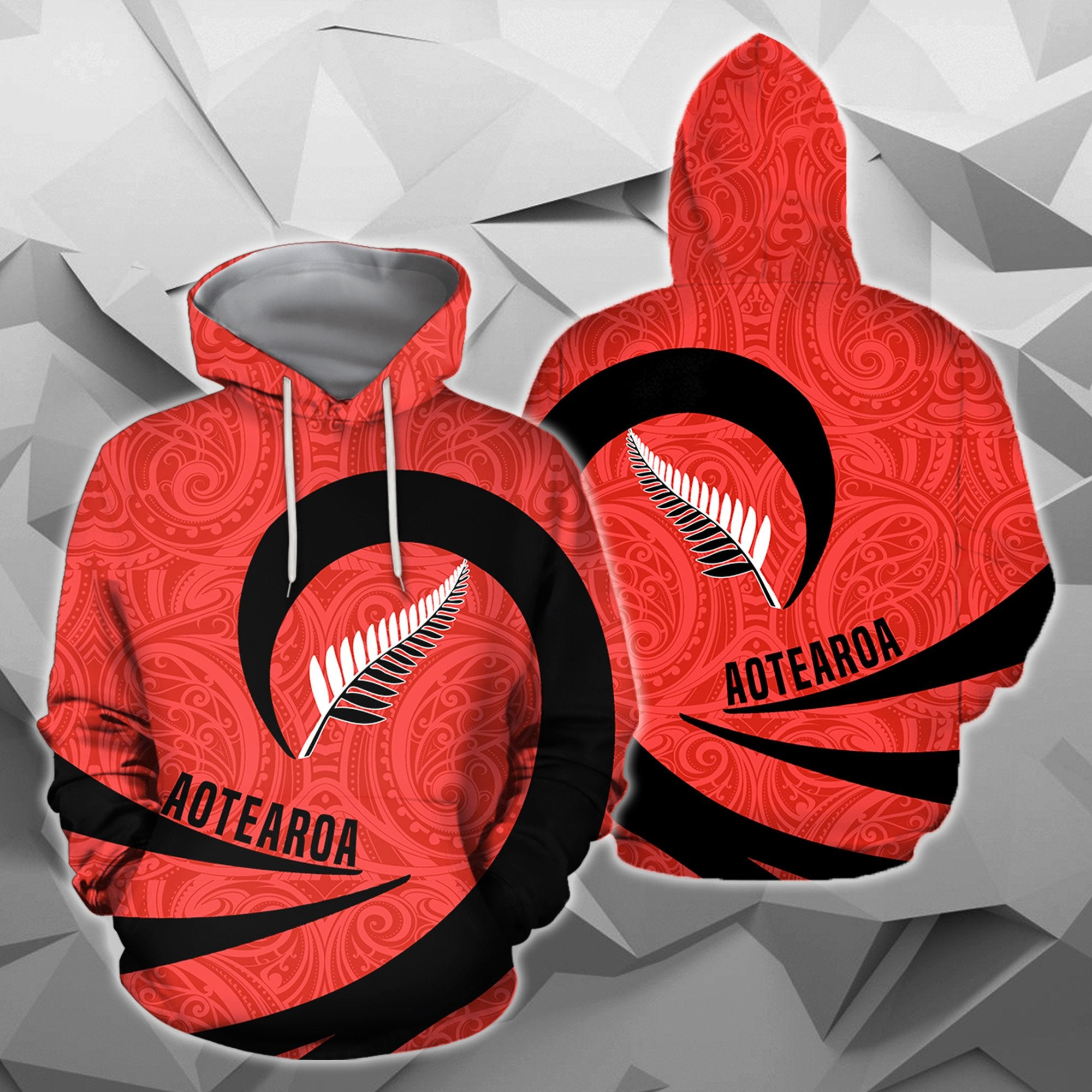 Aotearoa Hoodie Silver Fern Roll Into My Heart Zip-Up TH5 - Amaze Style™-Apparel