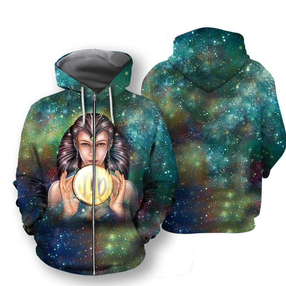 All Over Printed Virgo Hoodie - Amaze Style™