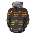 3D All Over Husband daddy Hero Hoodie - Amaze Style™-Apparel