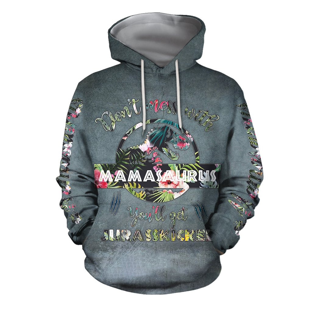 3D All Over Print Loved Mamasaurus Hoodie - Amaze Style™