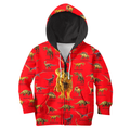 3D All Over Printed Red Dinosaurs T-Rex Shirts - Amaze Style™-Apparel
