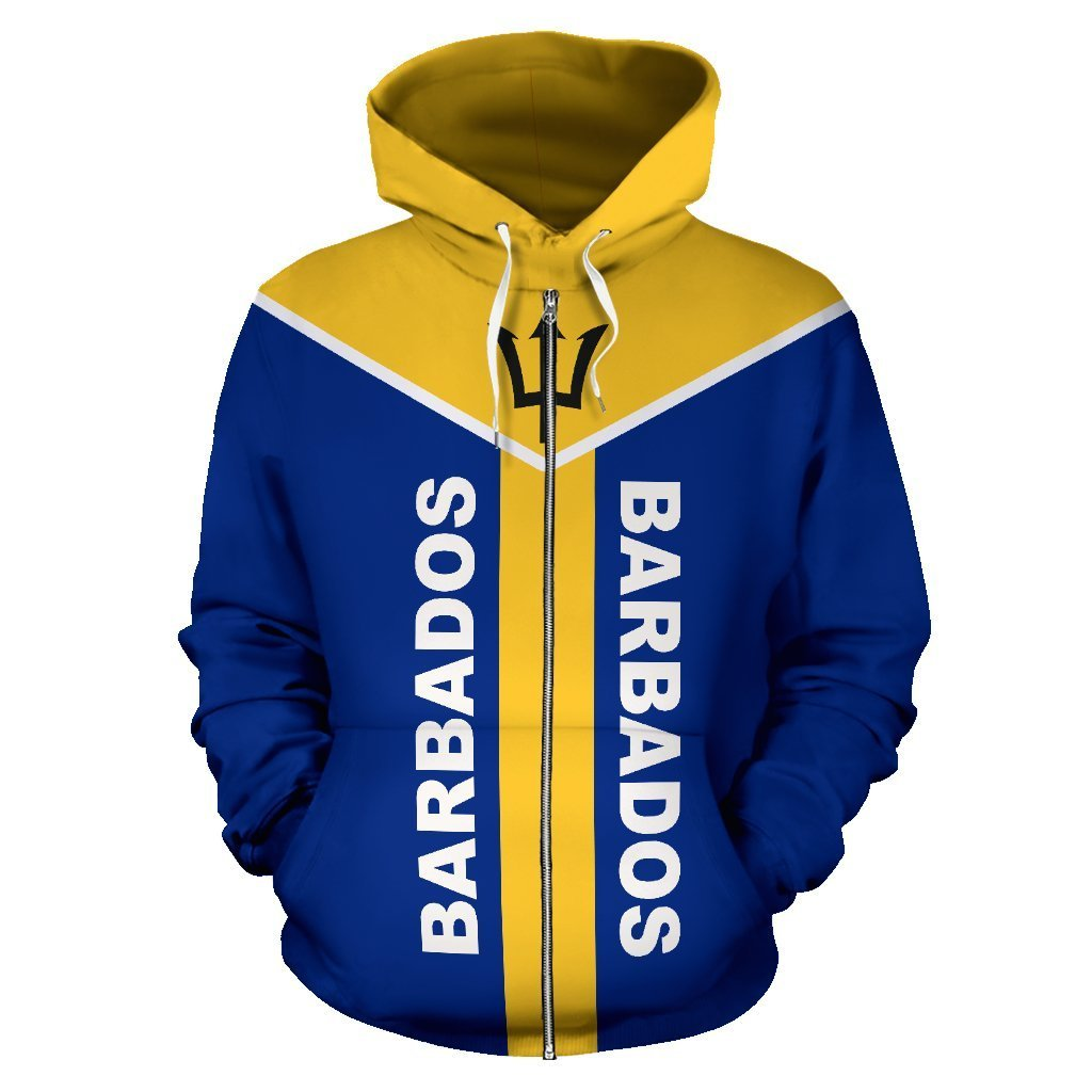 Barbados is My Homeland Zipper Hoodie - Amaze Style™