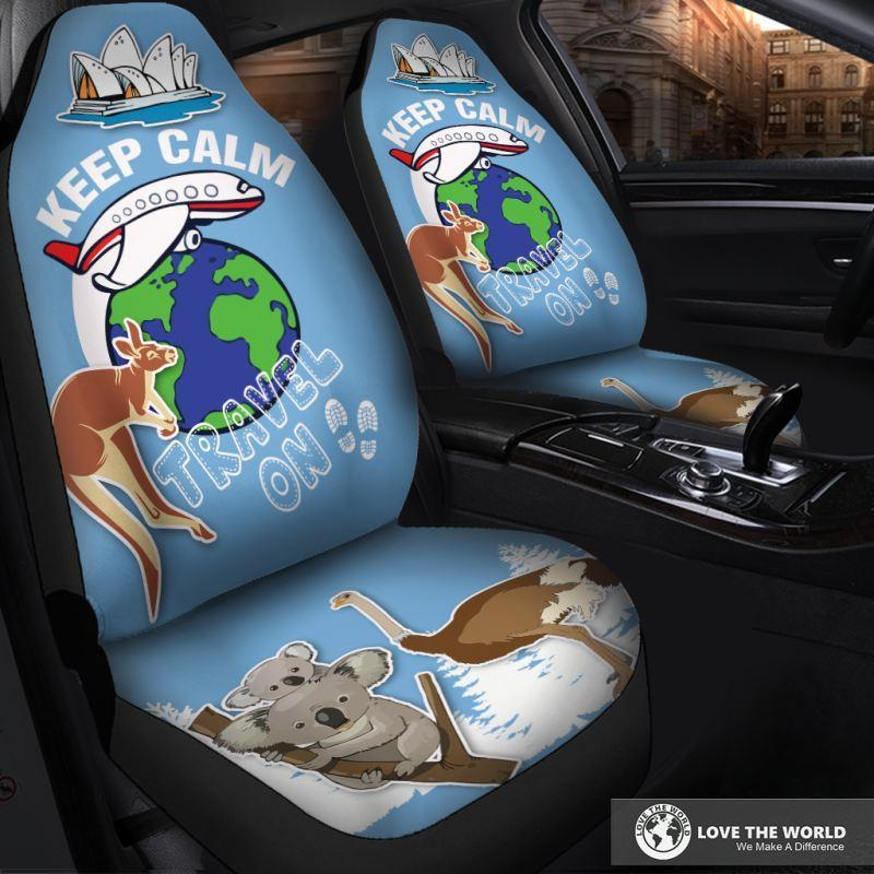 AUSTRALIA KEEP CALM TRAVEL CAR SEAT COVER S12 - Amaze Style™