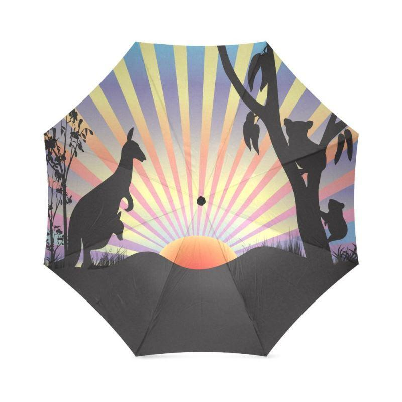 AUSTRALIA KOALA AND KANGAROO IN SUNSET UMBRELLA K5 - Amaze Style™-FOLDABLE UMBRELLAS