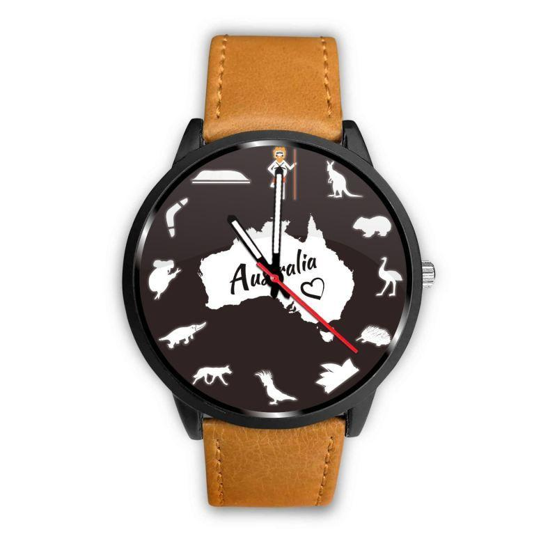 Australia Watch - Australian Symbols Leather-Steel Watch A3 - Amaze Style™-LEATHER-STEEL WATCHES
