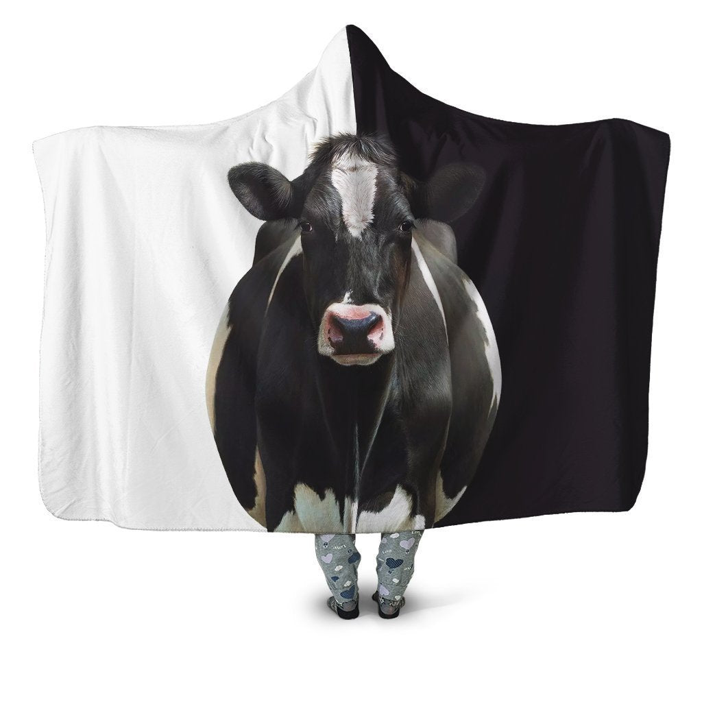 Beautiful Cow Farmer Hoodie Blanket - Amaze Style™