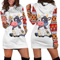 Cow Farmer Hoodie Dress - Amaze Style™-Apparel