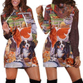 3D All Over Printed Beautiful Cow Hoodie Dress - Amaze Style™