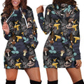 3D All Over Print Mushrooms and leaves of forest trees  Hoodie Dress - Amaze Style™-Apparel